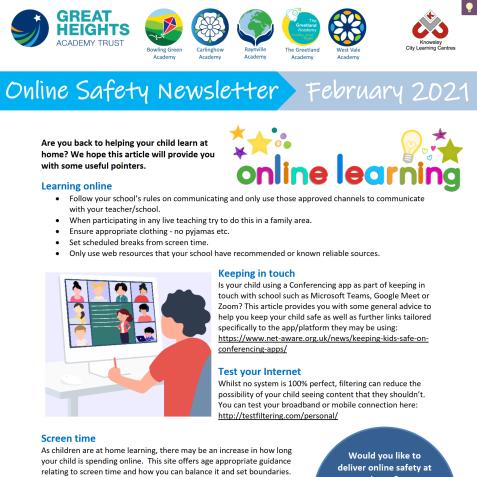 e-Safety Updates, Feb 21