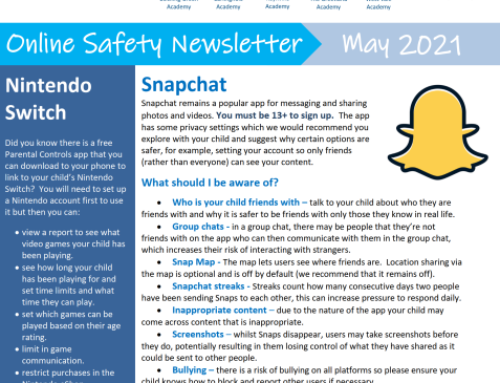 e-Safety Updates, May 21